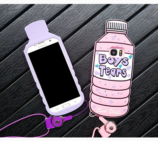Lovely 3D Pink Bottle Ice Cream Case for Samsung Galaxy