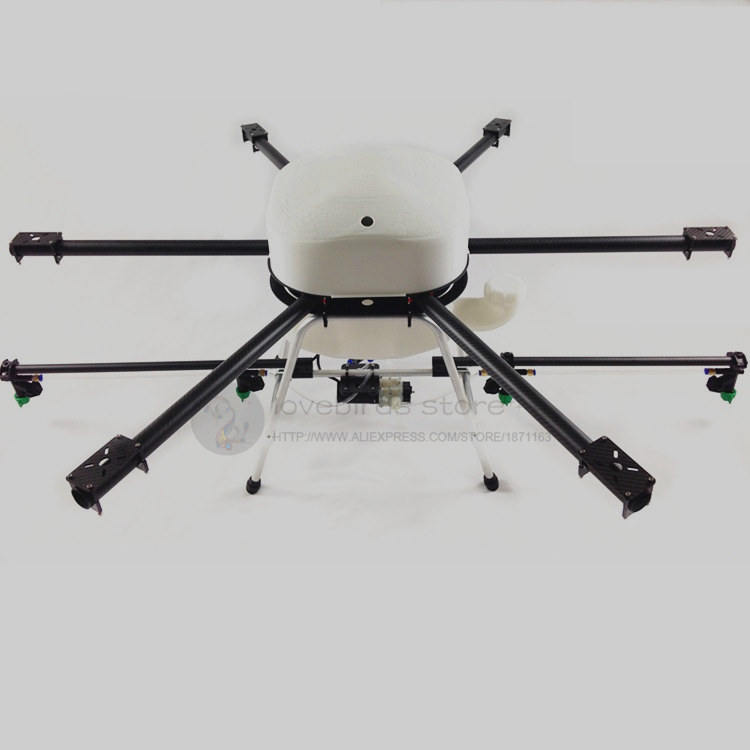 DIY 10L Agriculture spray multirotor drone hexacopter empty pure carbon fiber 1300mm folding frame + sprayer gimbal eft diy 10l agriculture spray quadcopter drone 1300mm annular folding pure carbon fiber frame model a and model b