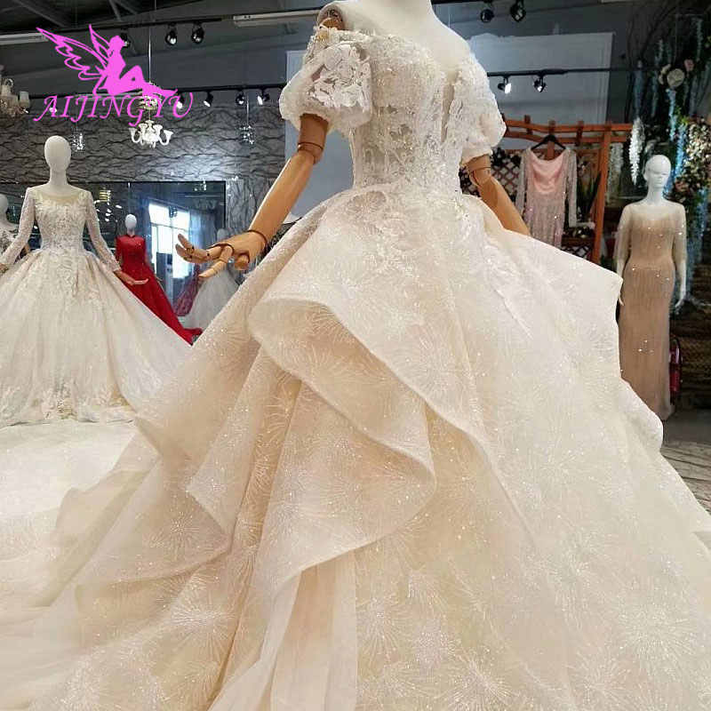 AIJINGYU Vintage Wedding Gowns Italian Couture Gypsy Boutiques Belgium Marriage  Wear Tulle Dresses Weeding Gown 495fd7f2d98a