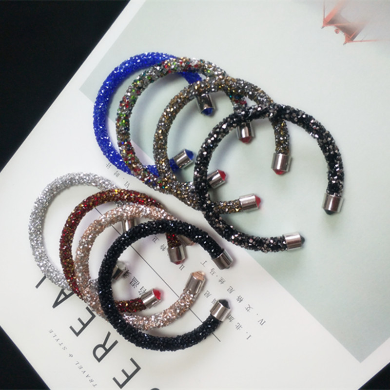 CX-Shirling Brand New Design Fashion Crystal Magic Bracelets Bangles For Women Weddings Jewelry Girl Gift 16 Colors