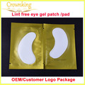Free shipping high quality lint free eye gel patch eye pads for eyelash extension