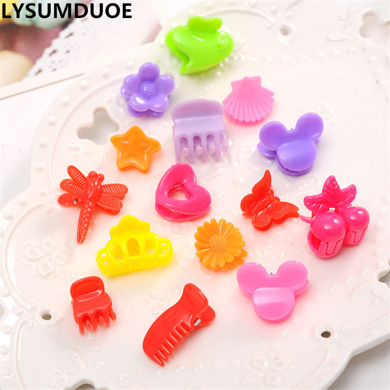 Fashion Girl Hair Bow Mini Claw Flower 20pcs Candy Clip Hairpin Butterfly Comb Crown Barrette Kids Gift Jewelry Hair Accessories girl headwear spring flower baby girl hair clip hairpin kids children hair accessories kk1718