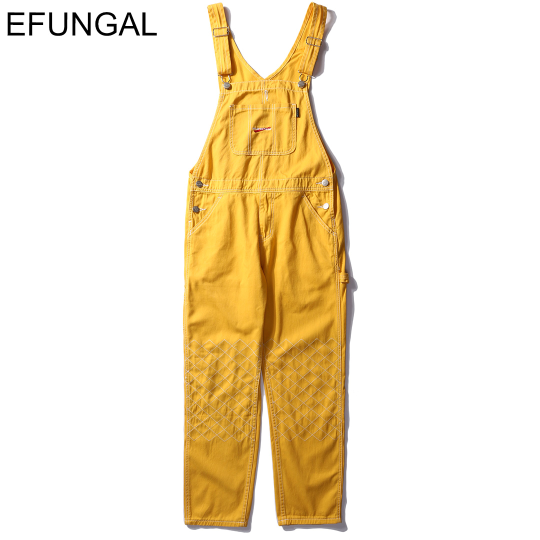 EFUNGAL 2019 Spring Summer Harem Overalls Joggers Men Women Hip Hop Streetwear High Fashion Casual Trousers Vintage Bib Pants-in Overalls from Men's Clothing    1