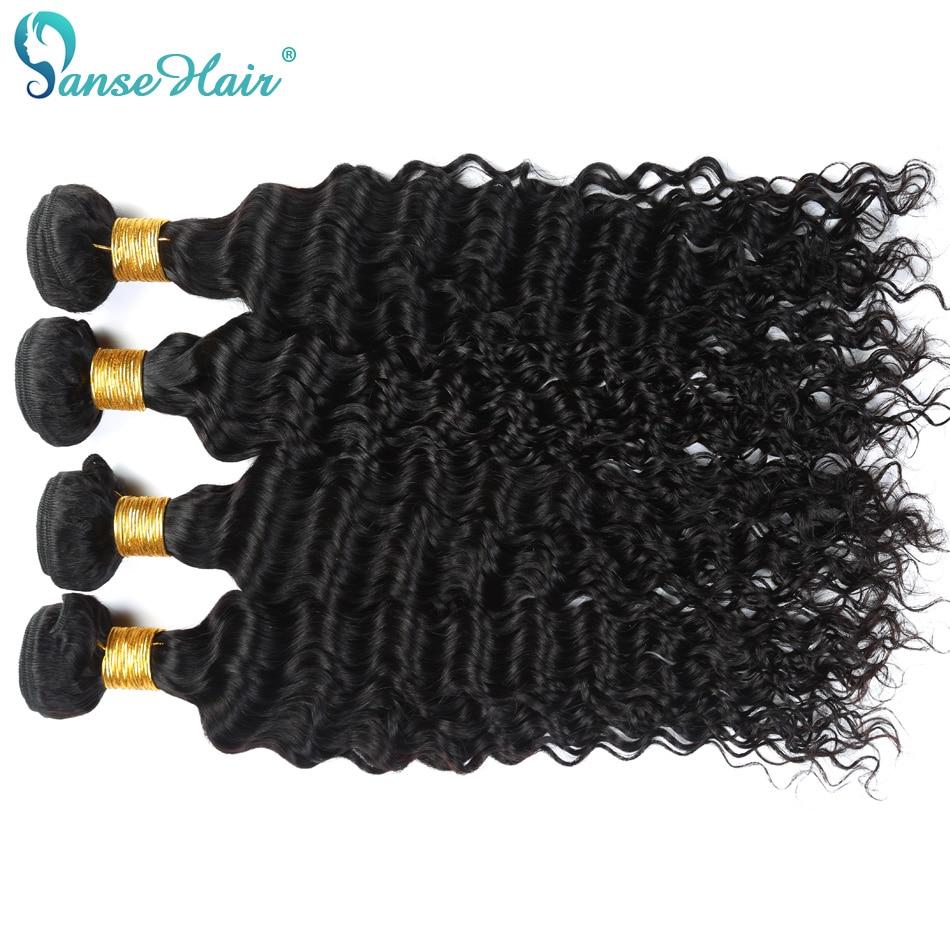 Panse Hair Deep Wave 4 Πακέτα ανά παρτίδα - Ανθρώπινα μαλλιά (για μαύρο) - Φωτογραφία 3