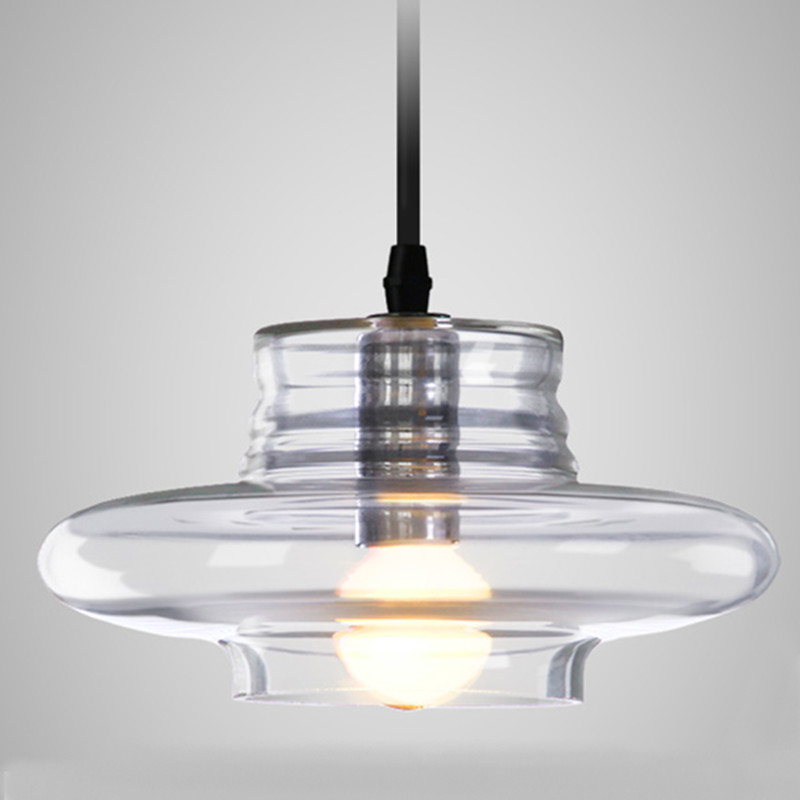 ФОТО Modern Pendant lights clear galss indoor lamp E14 AC85-265V ceiling The restaurant dining room bar shores  light Fixture