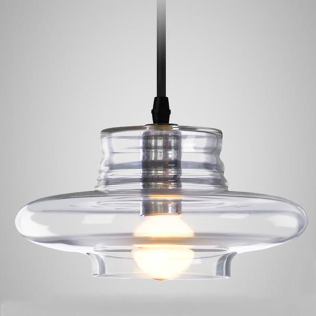 Modernas luzes Pingente galss claro interior lâmpada E14 AC85-265V teto Do restaurante sala de jantar bar costas luz Dispositivo Elétrico