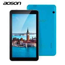 Образование AOSON M753 7 дюймов красочные Детские планшеты ПК Android 6.0 16 ГБ Встроенная память 4 ядра Планшеты 1024*600 IPS Экран Bluetooth