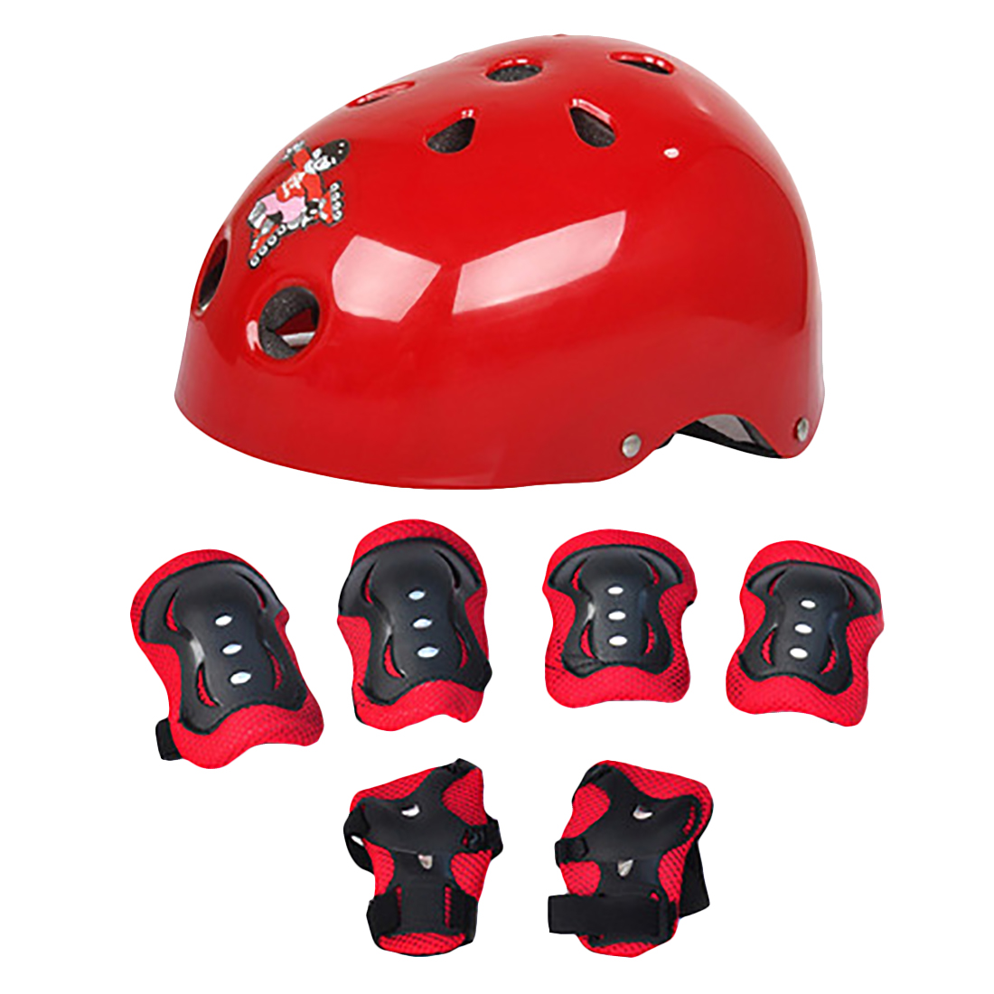 Elbow Knee Pads and Helmet Set Children Cycling Helmet ...
