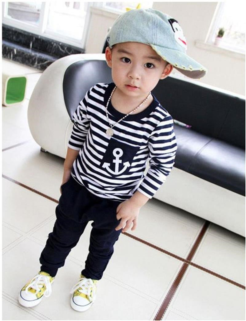 New-2017-Hot-Selling-New-Spring-Kids-Clothes-Navy-Long-Sleeve-Pullover-Striped-Sports-Suit-Casual (1)