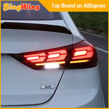 Car Taillight For Hyundai Elantra 2017 2018 2019 Taillights LED Tail Lamp Rear Lamp DRL+Reverse+Brake+Dynamic moving Turn Signal