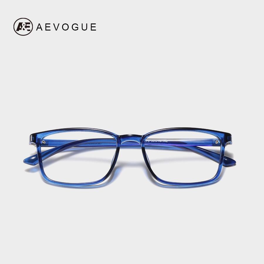 AEVOGUE Eyeglasses Men Anti Blue Light Blocking Reduces Anti-break Leg TR90 Frame Clear Lens Unisex Glasses UV400 AE0719