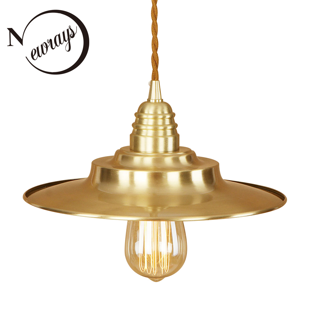 Modern iron painted brass Nordic style pendant lamp 220V E27 LED art deco hanging light fixture restaurant bedroom cafe hallway half round brass ball copper lampshade fabric wire pendant lamp fixture brass lighting led modern style restaurant bedroom light