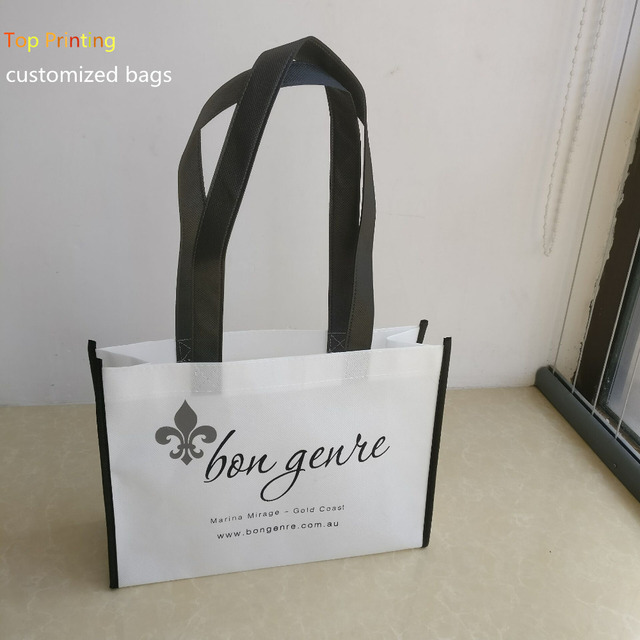 ade3aa8abf 2018 Wholesale 500pcs lot promotional eco-friendly reusable non woven  shopping bags can custom company brand logo for ads