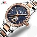 Carnival Fashion Luxury Women Watches Sapphire Star Waterproof Watch Woman Luminous Automatic Mechanical Watch Relogio Feminino