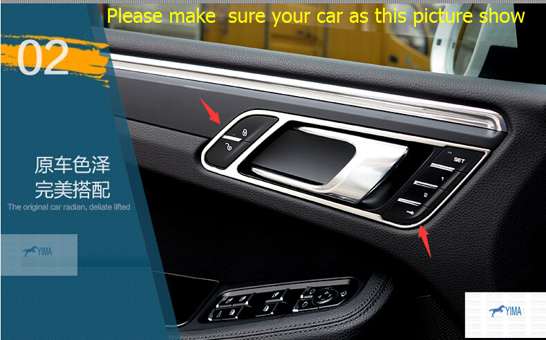 Great Stainless Steel Inner Door Handle Bowl Decoration Cover Trim 4 Pcs For  Porsche Macan 2014 2017 In Interior Mouldings From Automobiles U0026  Motorcycles On ...