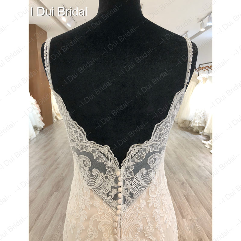 Image 5 - Spaghetti Strap Detachable Tulle Skirt Wedding Dress Lace Appliqued Bridal Gown-in Wedding Dresses from Weddings & Events