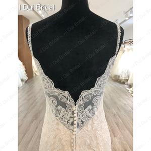 Image 5 - Spaghetti Strap odpinany spódnica z tiulu suknia ślubna koronkowa suknia ślubna