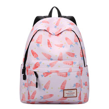 Preppy Style Soft Fabric Backpack Female School Backpack for Teenage Girl Carrot Printed Backpack Women New Travel Bag Sac A Dos