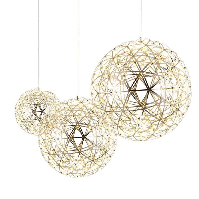 Modern creative spark ball starry fireworks led pendant for restaurant living room study Hotel