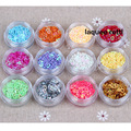 Nail Heart Glitter 12 Colors Sweetheart Glitter Acrylic Nail Art UV Gel Decoration Tools Free Shipping
