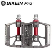 цена на Ultralight Mountain Bike 9/16 Pedals Black/Titanium 3 Bearings CNC Aluminum Cycling MTB BMX Platform Pedal Bike Accessories