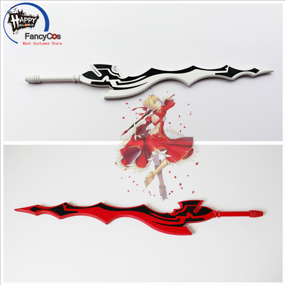 Fate/EXTRA Last Encore red white Saber Nero Aestus Estus Weapon sword Cosplay Action Figure Collectible Model Toy Halloween