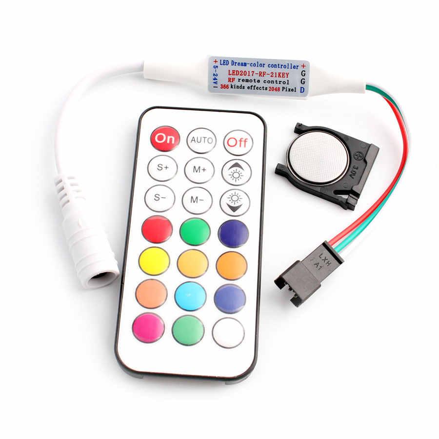WS2812B WS2811 kontroler Led pilot zdalnego sterowania taśmy 21 klawiszy RF Led ws2812 kontroler światło rgb WS2811 WS2812 WS2812B kontroler zdalnego