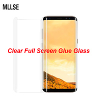 MLLSE 3D Curved Clear Full Glue Tempered Glass For SAMSUNG S8 Full Adhesive Screen Protector For