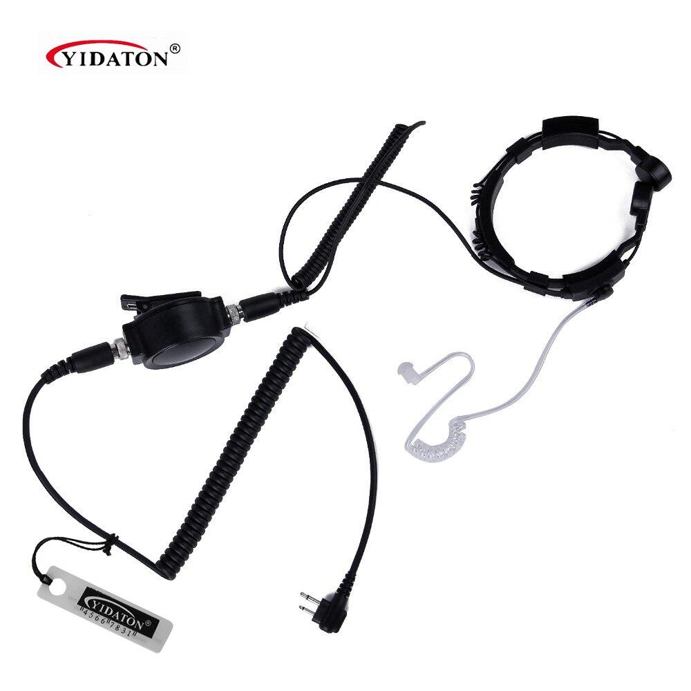 Headband PU line IP54 Waterproof PTT Throat Mic for Motorola Radio GP/PRO anti-noise walkie talkie cb radio comunicador earpiece line art