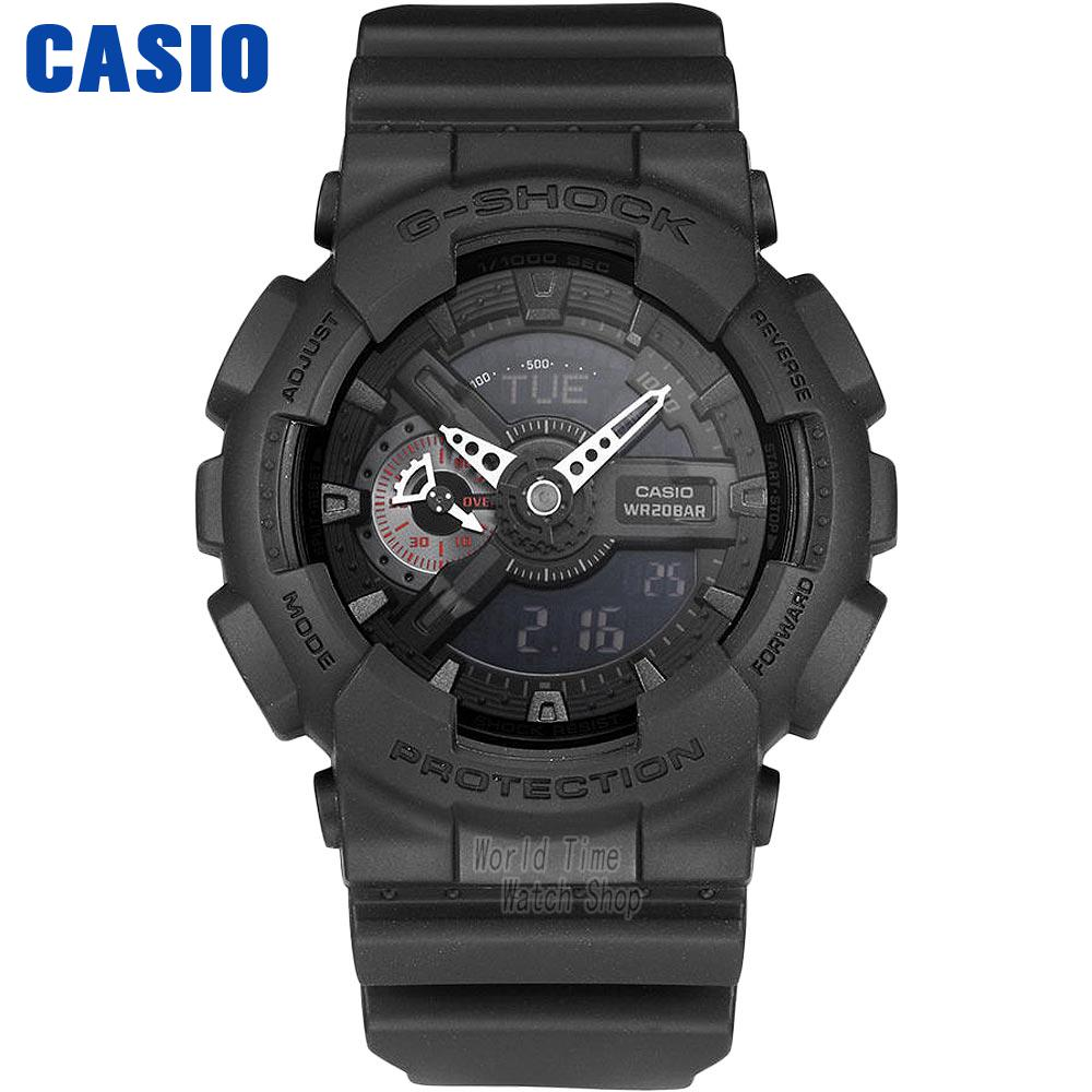 Casio watch Fashion trend sports waterproof shockproof double display electronic male watch GA-110MB-1A casio watch fashion trend ms quartz watch she 4048pgl 6a