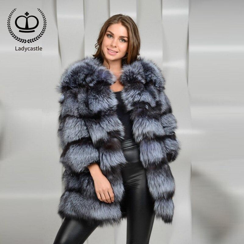 Hiver Chaud Manteau Les Nouveau Mode Pelt Renard Complet Outwear Fc Thciken Fox Pour Femmes Naturel Parka Ruban Top 114 Réel Fourrure Long De 0YwYCSqH
