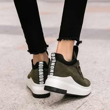 Women Casual 2018 ladies shoes platform shoes sneakers women autumn shoes for women flats lace up breathable sport Shoes