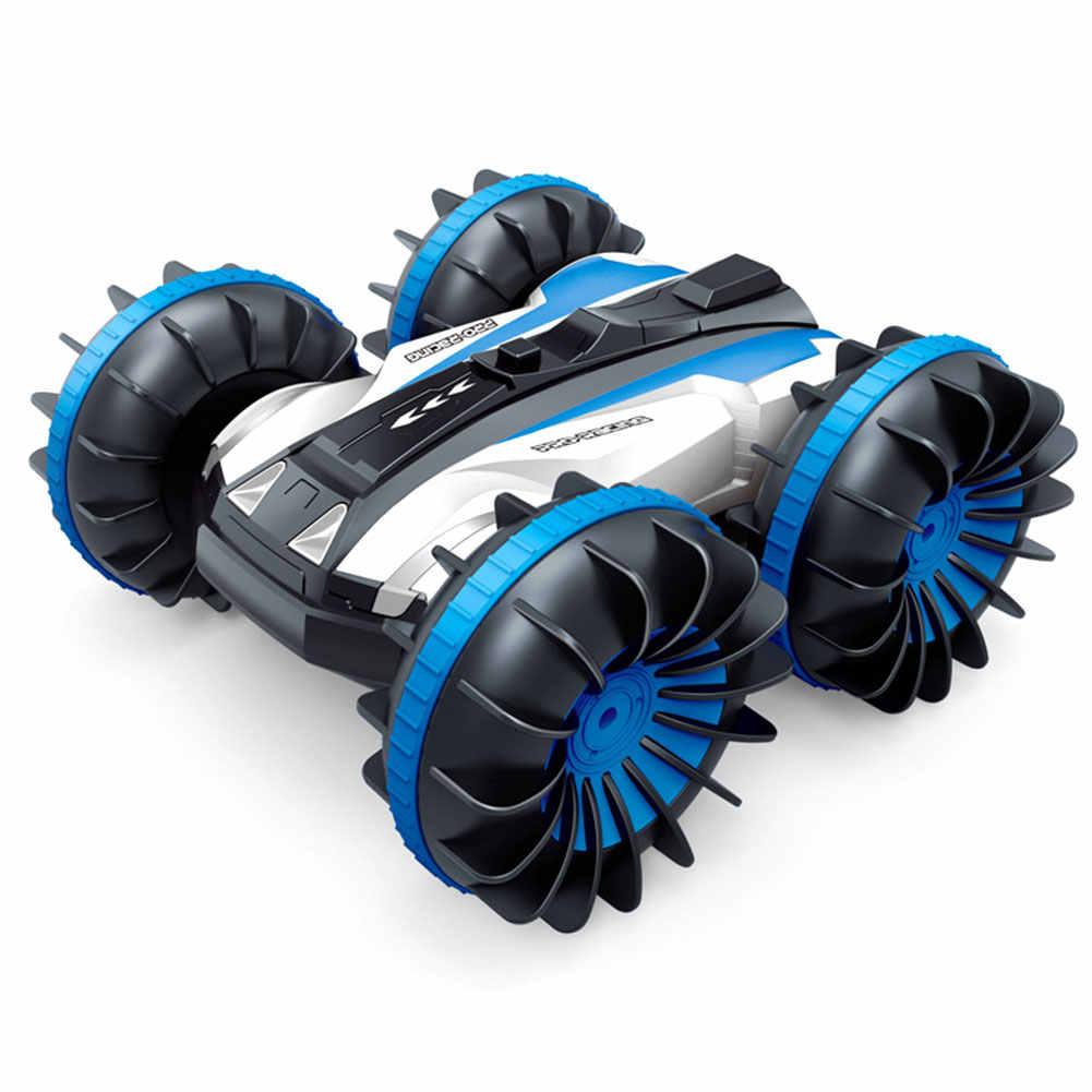 2,4 ГГц 4WD 1:18 360 градусов спинны амфибия внедорожный Радиоуправляемый автомобиль двухсторонний трюк вращающийся лодка автомобиль водонепроницаемый пульт дистанционного управления
