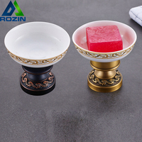 Free Standing Soap Holder Container Dispenser Deck Mounted Soap Dishes for Bathroom Soap Accessories