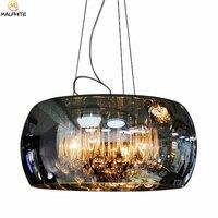 Modern Crystal Hanging Pendant Lamps Glass Shade Luminaire Pendant Lights Lampshade Noveity Hanglamp Home Deco Lighting Fixtures
