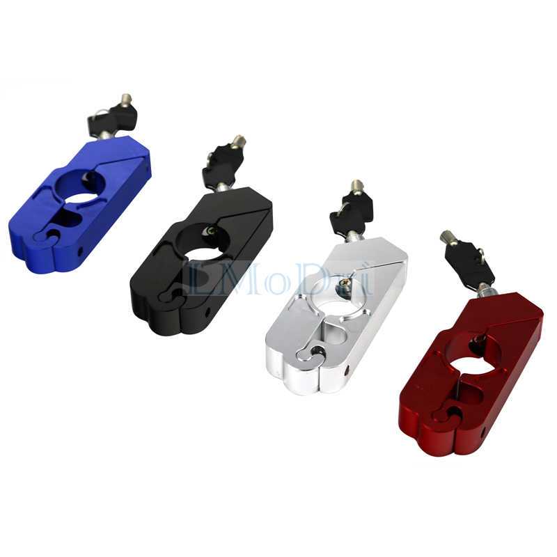 Lmodri CNC Motor Stang Lock Rem Tuas Throttle Grip Keamanan Kunci Skuter Keselamatan Anti Pencurian Perlindungan