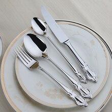 Besteck 24 Stücke Qualität Edelstahl Geschirr Set Restaurant Vintage Zeitlosen Tisch Einstellung Westlichen Esszimmer Geschirr