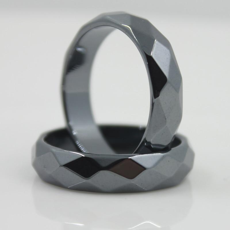 Mode-sieraden Grade AAA kwaliteit 6 mm breed gefacetteerde hematiet - Mode-sieraden - Foto 4
