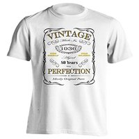 80th Birthday Gift T Shirt Born In 1936 Vintage Aged 80 Years To Perfection Short Sleeve