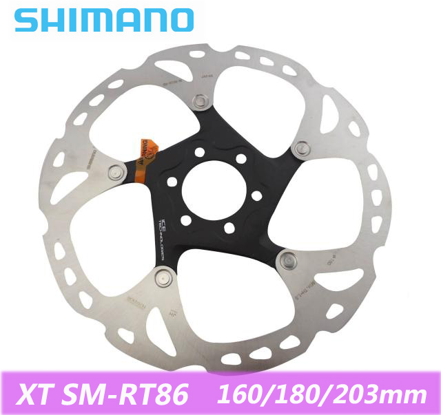 SHIMANO Deore XT SM-RT86 Brake Disc Disc Brake Stainless Steel Bicycle Bicycle Disc Brake Rotor Six Nail Screw 160/180 / 203mm shimano m505 mtb bike hydraulic disc brake set clamp mountain for deore xt brake bicycle disc brake