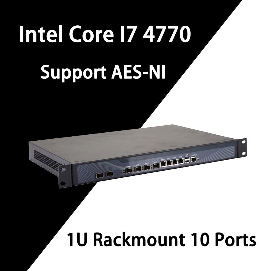 Firewall Mikrotik Pfsense VPN Network Security Appliance Router PC Intel Intel Core I7 4770,[HUNSN SA20R],(4LAN/2USB/1COM/1VGA)