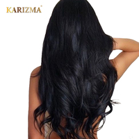 Karizma Malaysian Body Wave Hair Bundles 100% Human Hair Extension Natural Color Can Be Dyed Non Remy Hair Weave Free Shipping