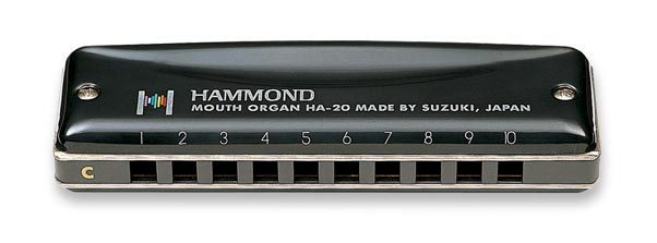 SUZUKI Harmonica HA-20 Promaster Hammond 10-hole Blues Harmonica Diatonic- KEY Of C