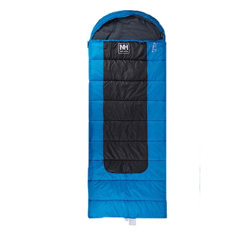 Naturehike Outdoor Camping Hooded Envelope Rectangular Sleeping Bag Winter Splicing Lazy Bag NH00F400-D-L/NH00F400-D-M