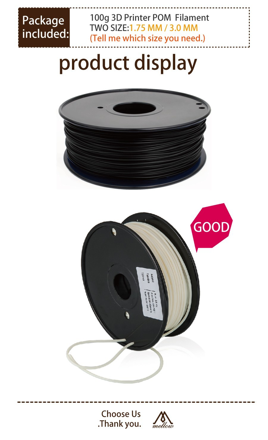 3D Printer Filament - POM 5