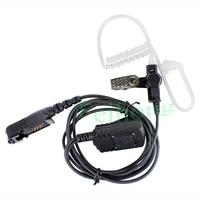 Waterproof IP54 PTT Covert Acoustic Tube In ear Earpiece for Motorola Radio XPR3300 XPR3500 XIR P6620 Walkie Talkie