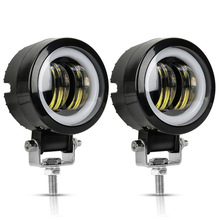 Led-Light Driving Offroad Truck Boat Angel-Eyes Round Motorcycle Waterproof Spot 12V-80V