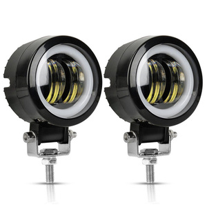 2PCS/1PC 3Inch 12V 24V 6500K Waterproof Round LED Night Bar Lights Portable Spotlights Motorcycle Offroad Truck Driving Car Boat(China)