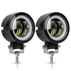 2PCS/1PC 3Inch 12V 24V 6500K Waterproof Round LED Night Bar Lights Portable Spotlights Motorcycle Offroad Truck Driving Car Boat(China)
