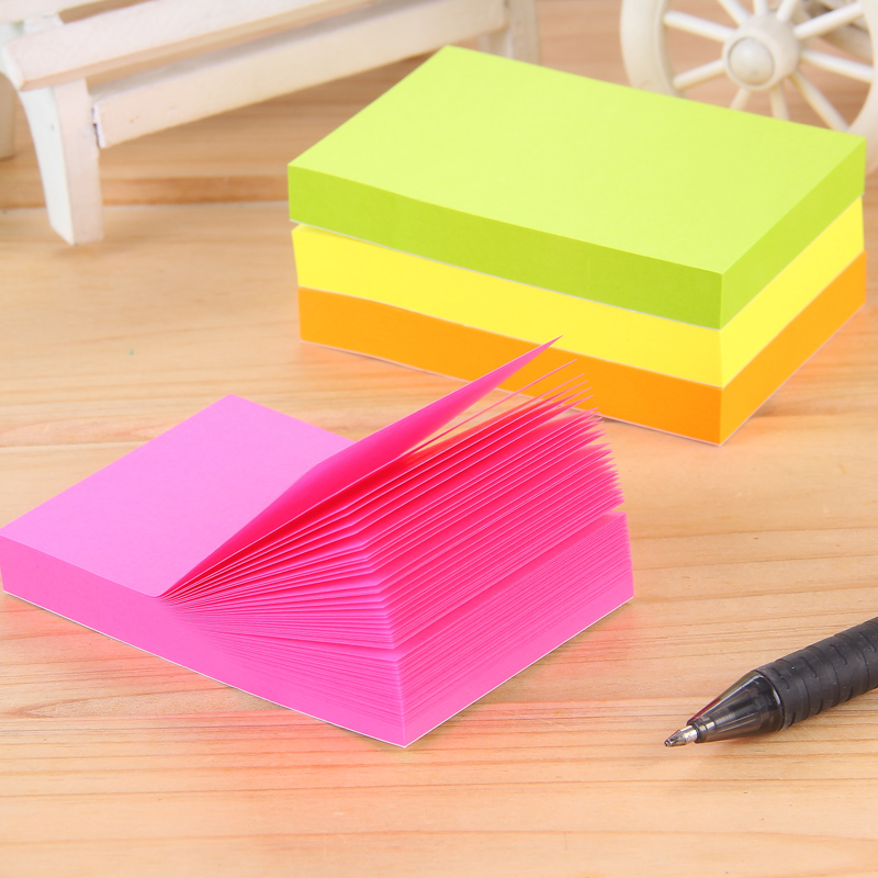 12 Packs x 100 Sheets Colorful Memo Pads Office Stickers Self-Adhesive Sticky Notes 76x51mm Post It Deli 9084